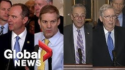 Democrats, Republicans react to first public impeachment hearing