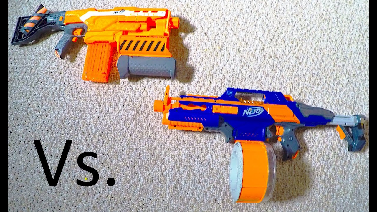 NERF WAR Rapidstrike Vs Demolisher first person view