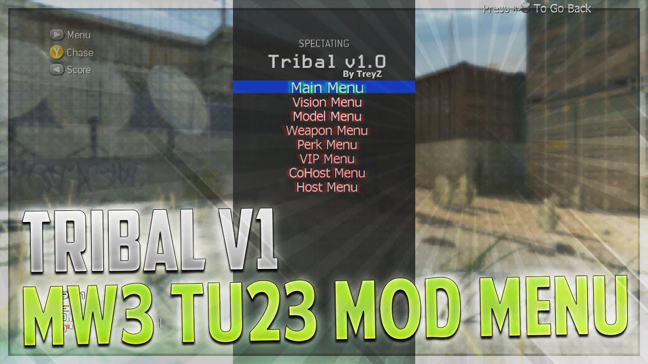 CoD MW3 Mod Menu - Tribal v1 MW3 Mod Menu TU23 RGH (+ Download)