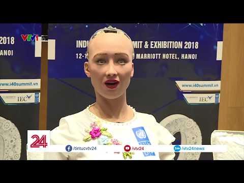 Robot tuyn b hy dit loi ngi Sophia tr li phng vn ca VTV24 - Tin Tc VTV24