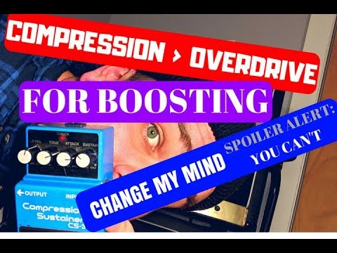 COMPRESSION IS BETTER THAN OVERDRIVE // BOSS CS-3 // REVIEW, DEMO, PLAY THROUGH // SJSS