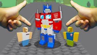 REALISTIC ROBLOX - TRANSFORMING INTO OPTIMUS PRIME! (Transformers)