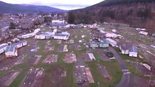 Ballater caravan site decimated by storm Frank