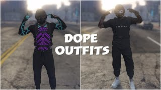 GTA 5 ONLINE CREATE 2 DOPE MODDED TRYHARD OUTFITS USING CLOTHING GLITCHES 1.45!