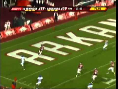 Felix Jones 82 yard kickoff return TD vs. Kentucky (2007)