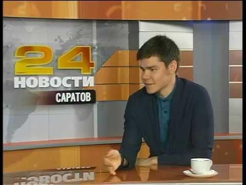 Молодой миллионер Аяз Шабутдинов в студии РЕН ТВ-Саратов