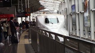 Sanyo Shinkansen N700A Series [Nozomi No.152] (Arriving and Departing Okayama)