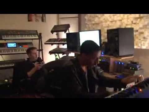 Ryan Leslie and Kid Cudi in Studio
