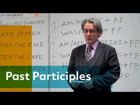 How do you use past participles? Learn English at Dublin City University