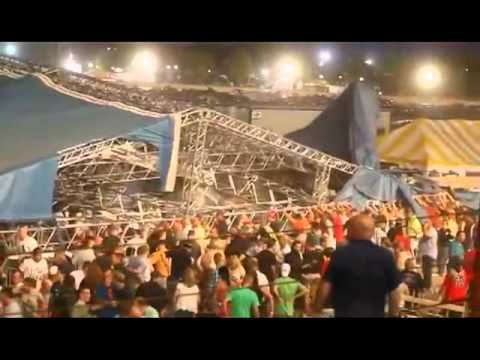 Indianapolis State Fair Grounds Stage Collapse Before and After