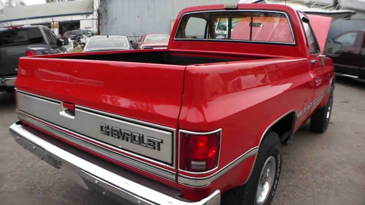 Truck 1981 chevy truck for sale : 1986 Chevrolet K10 Pick Up For Sale~ALL OPTIONS~Restored~MUST SEE ...