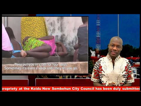 Sierra Leone Female prisoners cry for help.