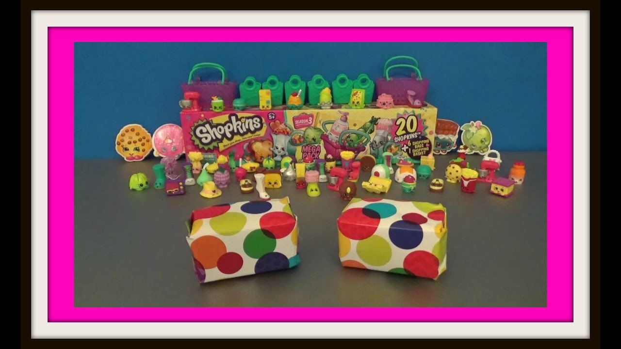SHOPKINS Baskets Season 4 Surprise Toys unboxing - Santa Claus Toys ...