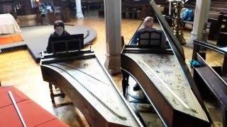 Gaspard Le Roux: Passepied in D minor - Double Entendre, two harpsichords