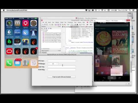 Push a notification from your desktop app to your mobile apps with Kinvey BaaS