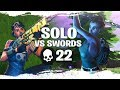 Solo Squads vs SWORDS! 22 KILL GAME (Sword Fight LTM)