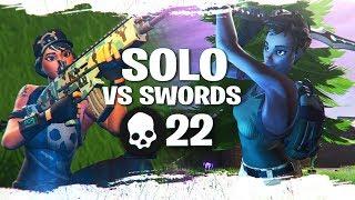 Solo Squads vs SWORDS! 22 KILL GAME (Sword Fight LTM)
