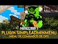 Plugin SimpleAdminmenu - Menu de comandos de OPs Minecraft