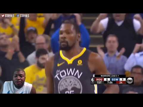 Golden State Warriors Vs Houston Rockets Game 4 (NBA PLAYOFFS 2018 RD3) REACTION FULL HIGHLIGHT