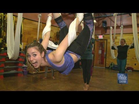 Anti-gravity yoga class