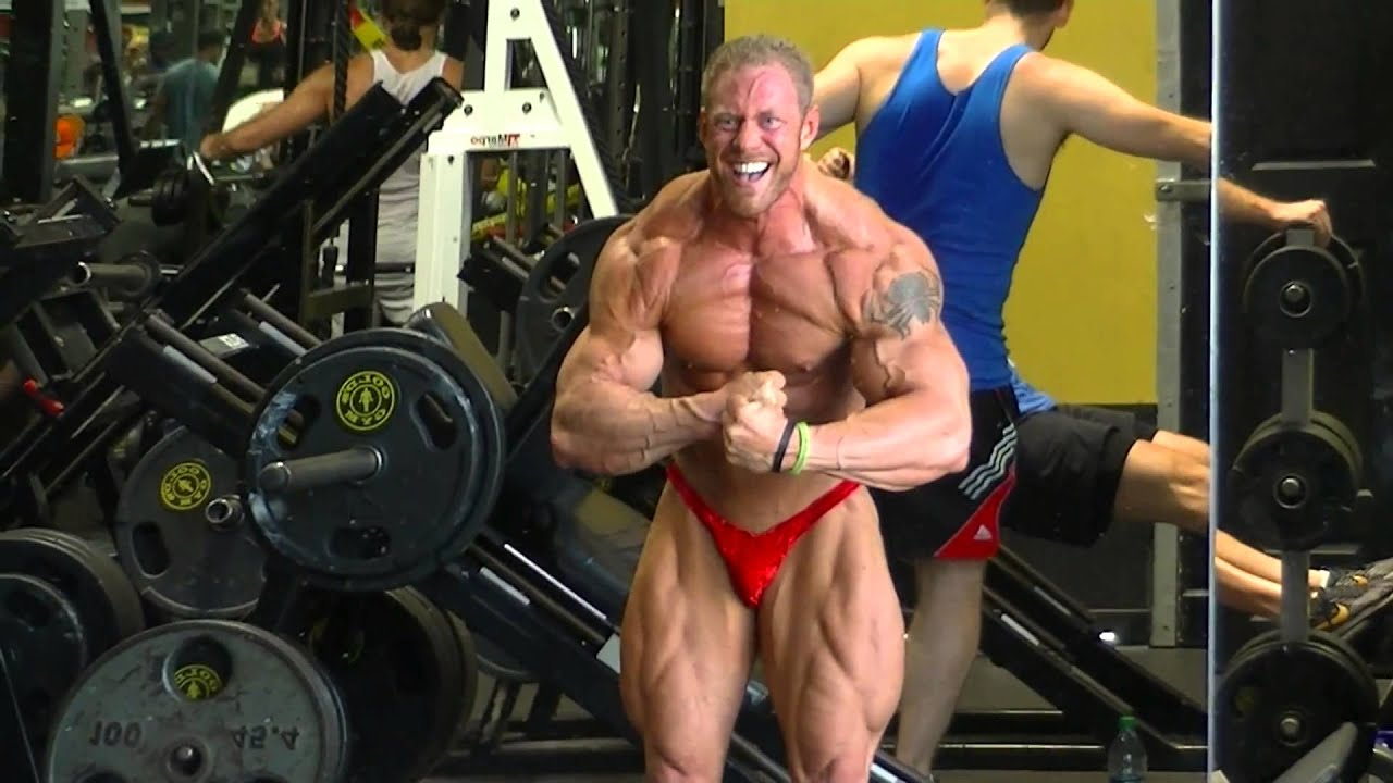 David Paterik poses at the World Famous Golds Gym Venice