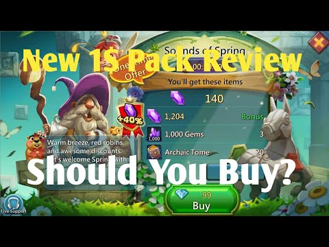 New 1$Pack Review Sounds Of Spring Lords Mobile| Lords Mobile New Pack Review