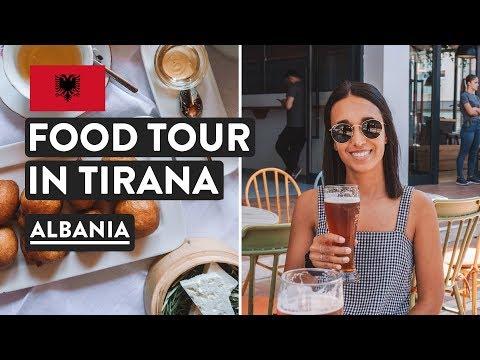 ALBANIA 🇦🇱Food & First Impressions | Tirana Food Tour & Travel Vlog