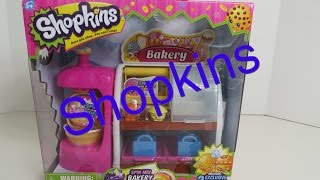 Shopkins Spin Mix Bakery Stand Playset Unboxing Toy Review