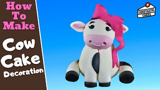 How to Make a cute COW FIGURE Cake Decoration Topper with Caketastic Cakes Instructions