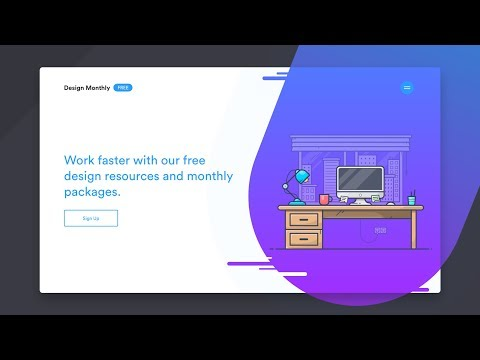 How to Design and Code a Responsive Illustration Style Website - Part 2