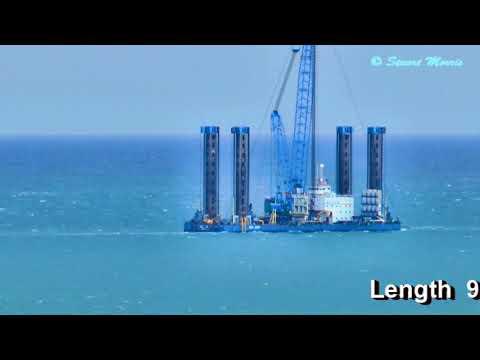 Towing giant rig Sea Jack off Portland Bill, 2013