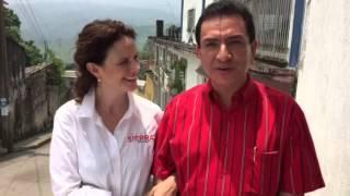 Nancy de la Sierra y Juan Antonio Martínez en Hueytamalco