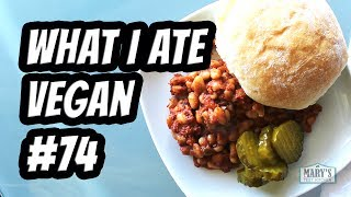 WHAT I ATE IN A DAY VEGAN #74 // Ice Cream Review + Newbie Grilling! | Mary's Test Kitchen