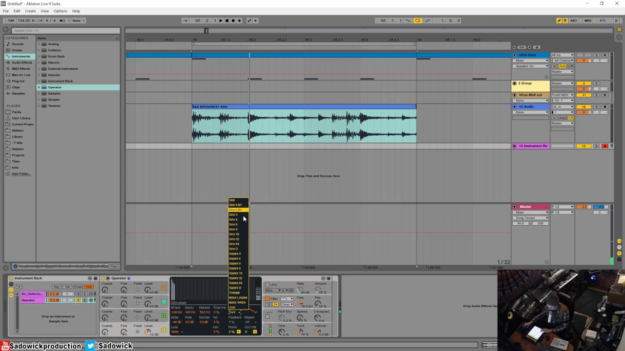 Ableton Live 9 - Quickly Tune A Sample Using Operator - YouTube