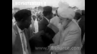 III Khalifa of Ahmadiyya Mirza Nasir Ahmad arrives in Ghana 1970