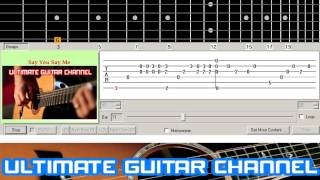 [Guitar Solo Tab] Say You Say Me (Lionel Richie)