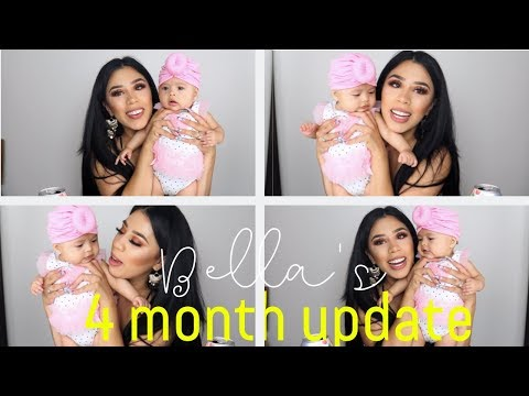 BELLA IS 4 MONTHS - ANSWERING YOUR QUESTIONS ABOUT HER - 동영상