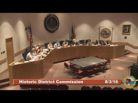 Historic District Commission 8.3.16