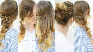 Quick and Easy 4 Minute Hairstyle Ideas | Summer Hairstyles | Braidsandstyles12