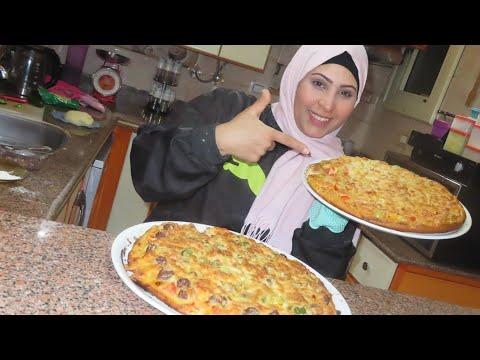 صورة  طريقة عمل البيتزا لا تقولي بيتزا هت ولا بيتزا كوين 😂وتمنى اتضربت في المطبخ بسبب 🤫🤫 طريقة عمل البيتزا بالفراخ من يوتيوب