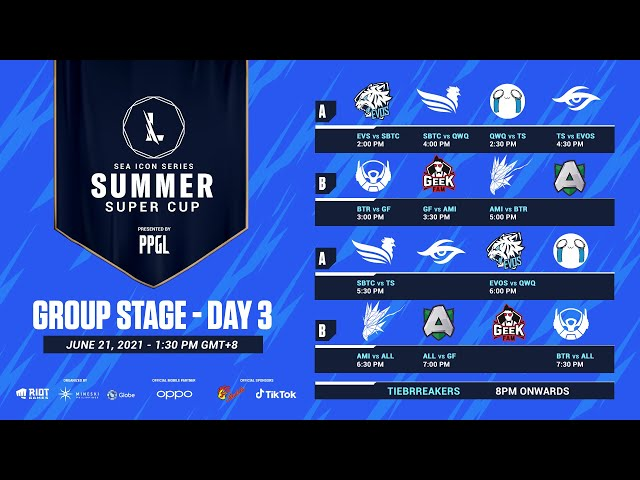 2021 Wild Rift: SEA Icon Series - Summer Super Cup - Group Stage Day 3