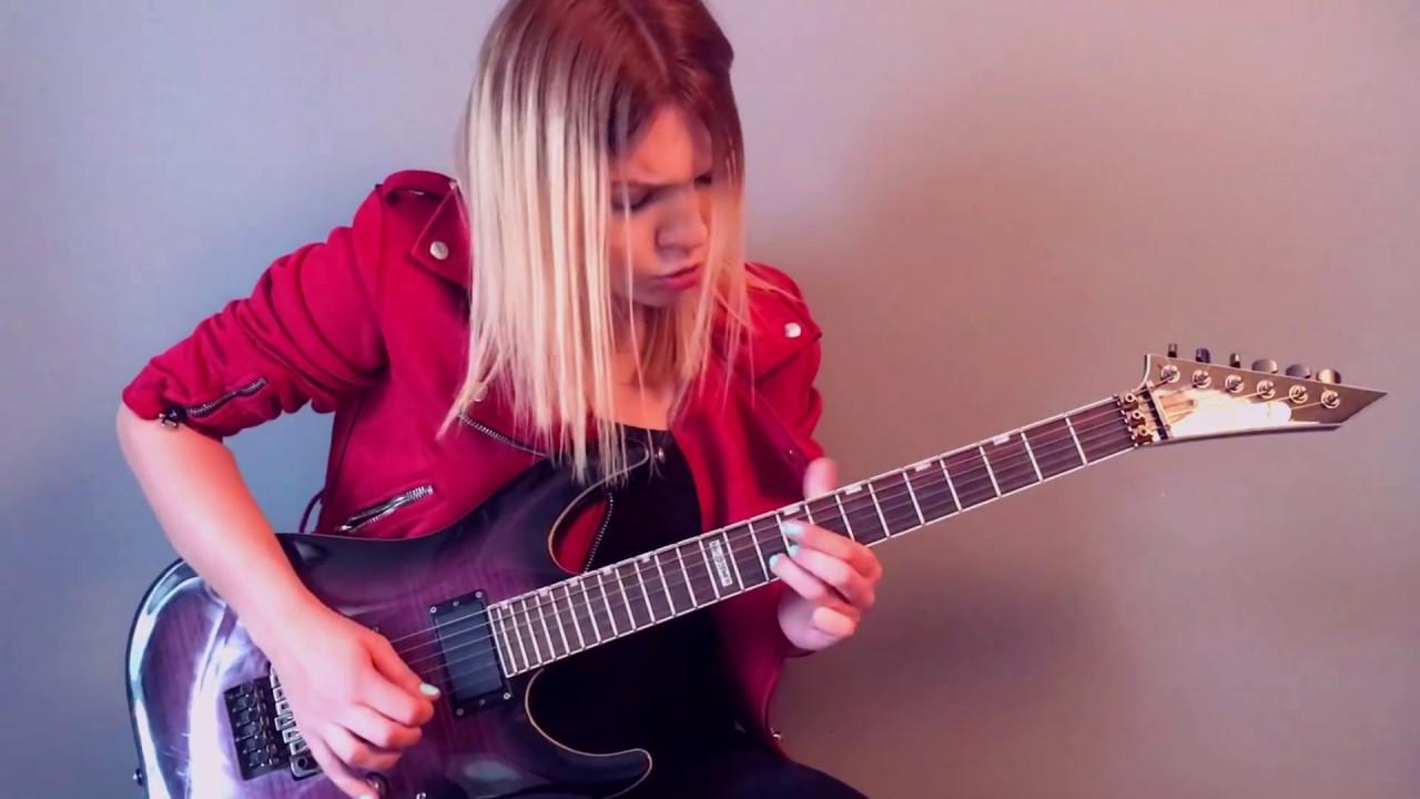 Arch Enemy The Eagle Flies Alone Guitar By Alex Schmeia Youtube