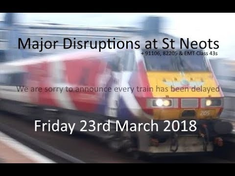 Friday Rush Hour Trains (and Major Disruptions) at St Neots