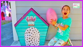 Cutest Puppy FurReal Friends Ricky and Pink Egg Surprise Toys for Kids!