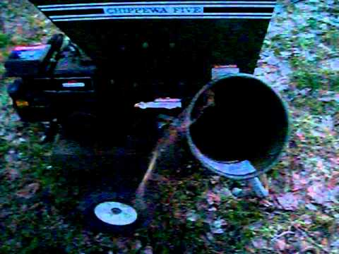 chippewa five wood chipper 5hp briggs and stratton engine