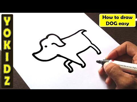 How To Draw DOG Easy