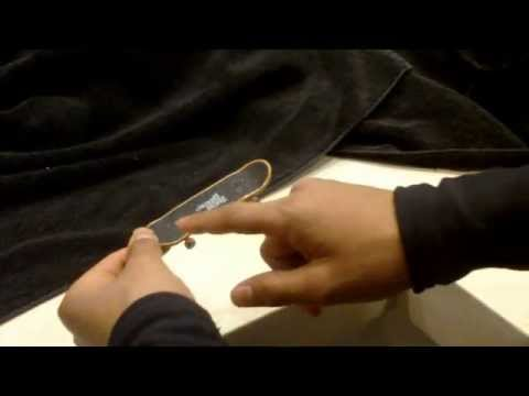 How To Do A Kickflip On A Fingerboard Tech Deck Slow Motion Youtube