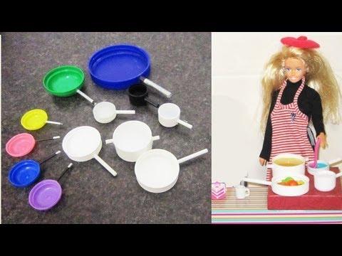 Manualidades para muñecas: haz sartenes y ollas para muñecas ...