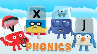Learn to Read | Phonics for Kids | Learning Letters - J, V, W, X