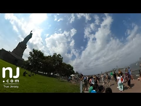 Solar eclipse 360 degree video from the Statue of Liberty